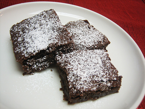 Dairy-free, egg-free, soy-free, nut-free, and gluten-free brownies!